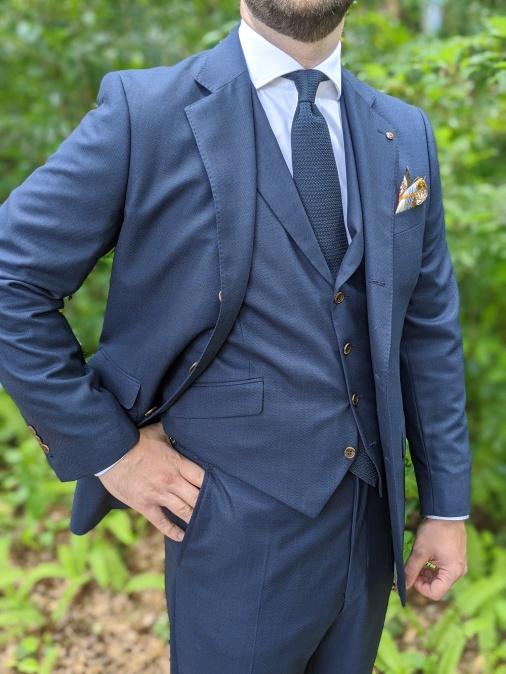 Classic Navy Three-piece suit.